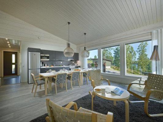 maison bois intérieur
