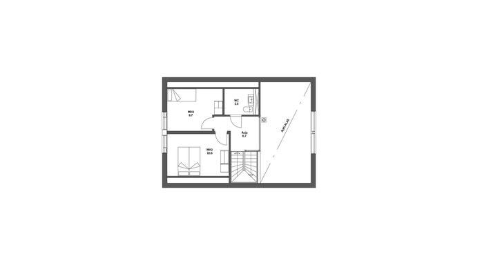 Plan étage maison en bois
