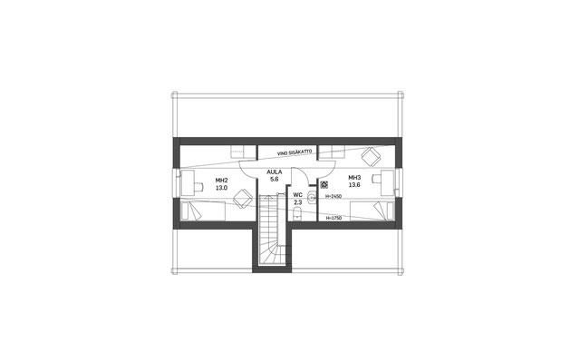 Plan maison en bois étage