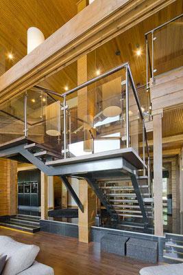 maison bois escalier