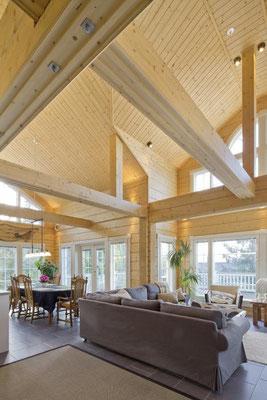 Maison en bois contrecollé