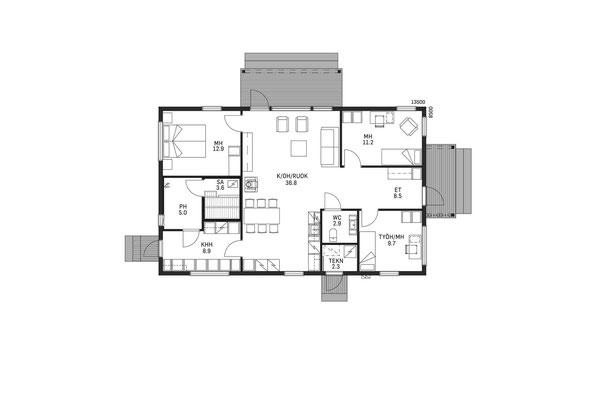 Plan maison en bois mono pente