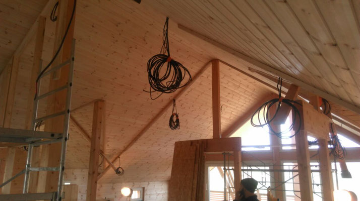 Intérieur cloison de séparations bois de 100 mm