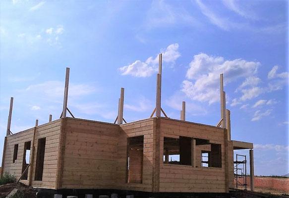 Montage maison en bois