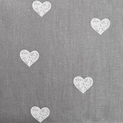 D142 Herzen grau weiß