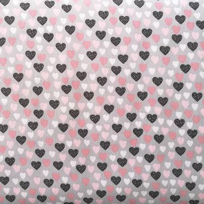 D159 Herzchen rosa grau