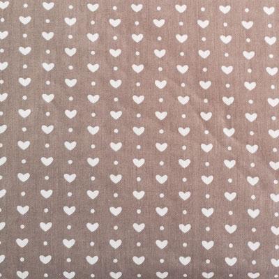 D149 Herzen klein taupe