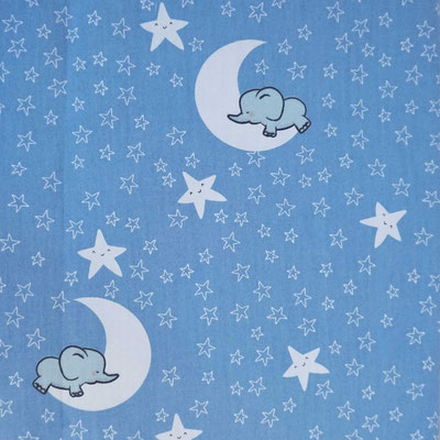 D63 Elefanten auf Mond blau