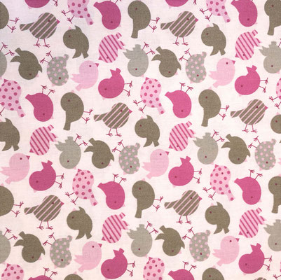 D134 Vögel taupe rosa