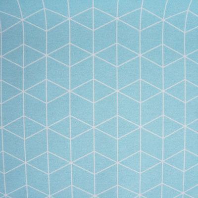 D121 Grafisches Muster hellblau