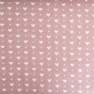 D150 Herzen klein staubrosa