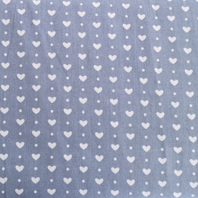 D148 Herzen klein staubblau