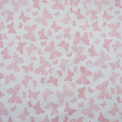 D65 Schmetterlinge hellrosa