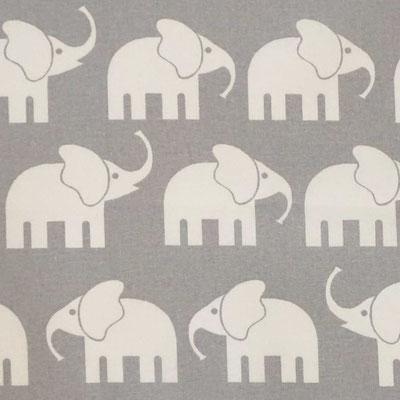 D04 Elefanten grau weiß