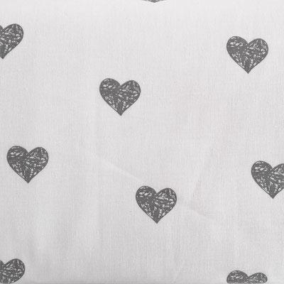 D141 Herzen weiß grau