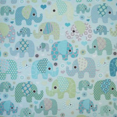 D62 Elefantentreffen blau mint