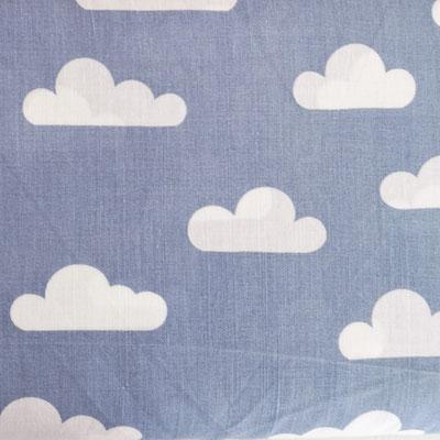 D155 Wolken staubblau