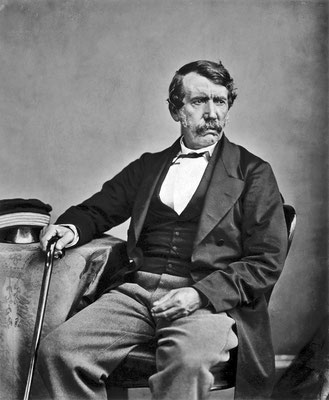 David Livingstone in 1864.  Click pic to view Wikimedia source