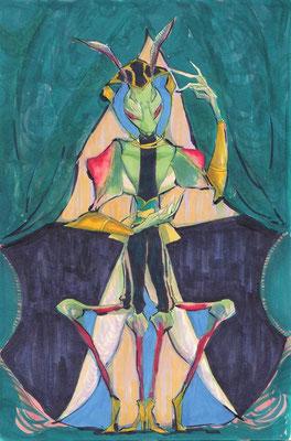(幕間。) 0602 ニセハナマオウカマキリというカマキリからイメージ。