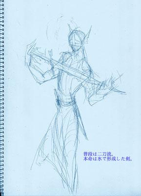 本気の時は生成するけど、普段は普通の剣使ってるイメージ。