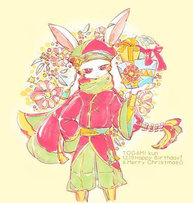 12.19はとがみくんの誕生日でした!今年は中華な衣装のつもり!おめでとう~!