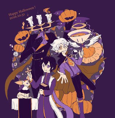 Happy Halloween!  (ジャンくん、タクトくん、オカリナちゃんと一緒に!)