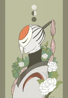 シラスミ 名前の由来:白澄(椿の種類。)