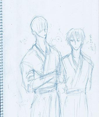 イアンも柔道と見せかけて、剣道。怖そう。セツナは家系的に袴履きなれてるからから並べただけ。
