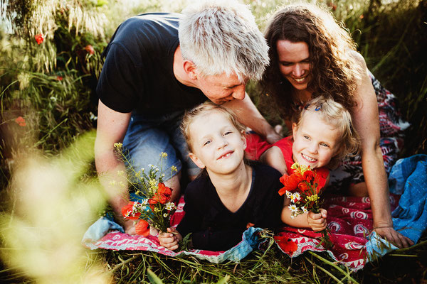 Familienshooting in Halle am Hufeisensee