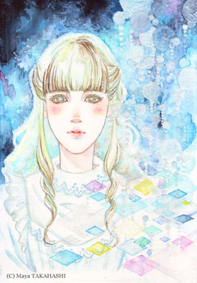 夜明け前 (彼女のなかの残り水、あるいは源泉)/ ミクストメディア