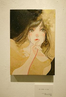 たいせき・とうか/ SM/ アクリル、柿渋、ウッドパネル/ 2017年/ 個人蔵