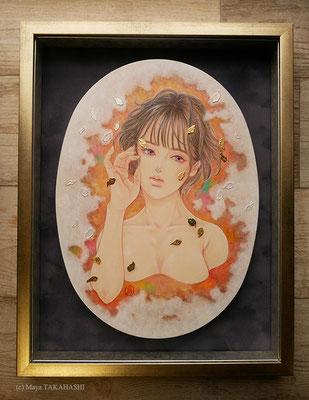 カンテーラの夢 -色遊び-/333×242×21mm (F4変形) /ミクストメディア