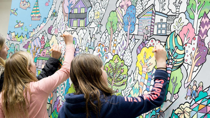 Giant Colouring Canvas At Center Parcs Fancy Features