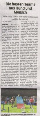 Artikel in einer Tageszeitung aus Bergkamen