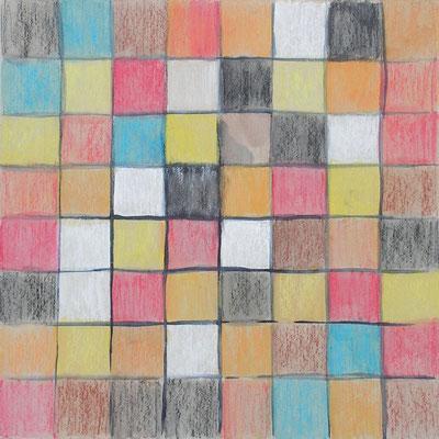 pastels à la cire aquarellables 33,5x33,5cm 2014