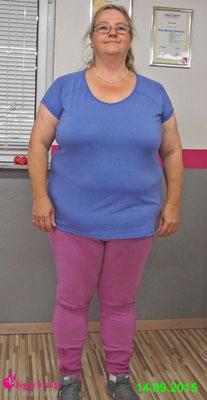 Startgewicht September 2015: 114,8kg