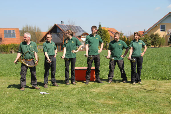 die Jagdhornbläsergruppe