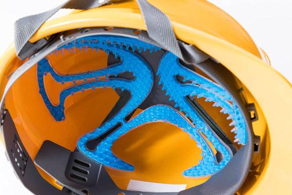 工事用ヘルメット装着例