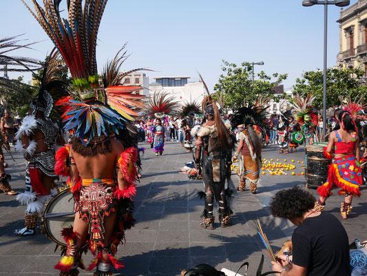 Concheros, danseur·euse·s traditionnel·le·s