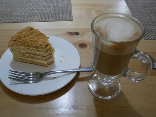 Découverte culinaire, gâteau au miel russe, le medovik, goût proche du gâteau au petits-beurre, un délice!