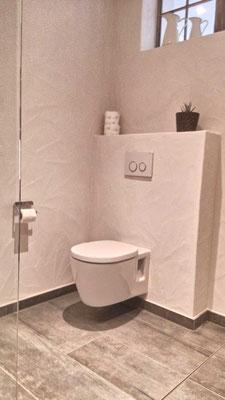 Wc und Duschbereich Ferienwohnung Freiburg