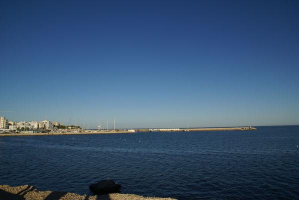 Blick auf Fischerhafen L'Ampolla