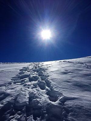 Spuren im Schnee auf der Fürenalp, Engelberg/Foto L. Moulin-Gallego
