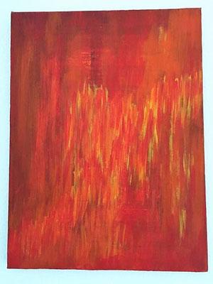 Rush-Hour, Acrylfarben auf Keilrahmen, 30x40 cm, Originalbild von Lucia Moulin-Gallego, 2007