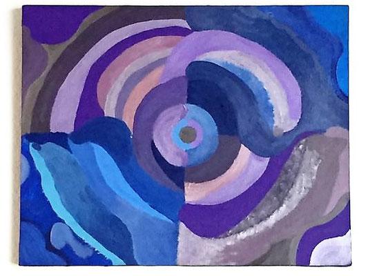Delfine, Acrylfarben auf Keilrahmen 50x40 cm, Originalbild von Lucia Moulin-Gallego, 2009