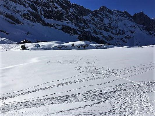 Der Trübsee unter Eis und Schnee, Engelberg/Foto L. Moulin-Gallego