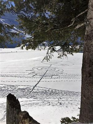 Muster im Schnee auf dem Trübsee, Engelberg/Foto L. Moulin-Gallego