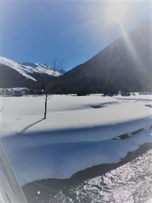 Schneelandschaft, Davos, Foto L. Moulin-Gallego