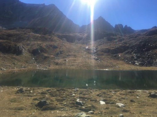 Mystische Stimmung an einem Bergsee, Sils Maria/Foto L.Moulin-Gallego