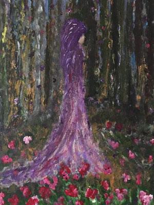 Beschützerin, Acrylfarben auf Keilrahmen 30x40 cm, Originalbild von Lucia Moulin-Gallego, 2019